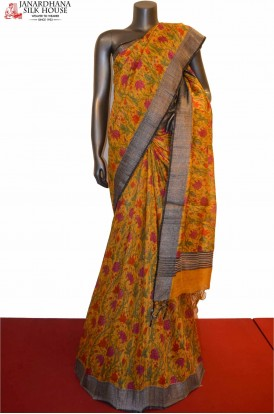 AE203863-Exclusive Party Wear Pure Tussar Silk Saree