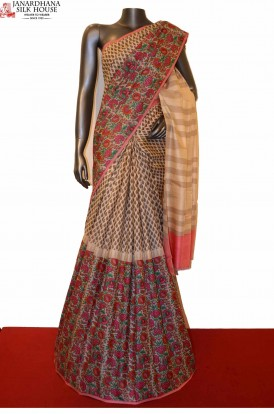 AE203867-Exclusive Party Wear Pure Tussar Silk Saree