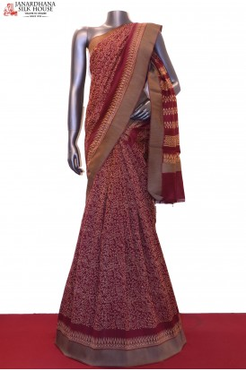 AE203978-Handloom Pure Chanderi Cotton Saree