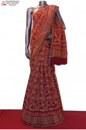 AE203980-Handloom Pure Chanderi Cotton Saree