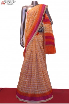 AE203983-Handloom Pure Chanderi Cotton Saree