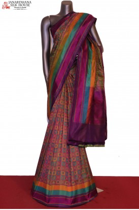 AE204496-Master Weave & Exclusive Satin Jamawar / Tanchoi Silk Saree