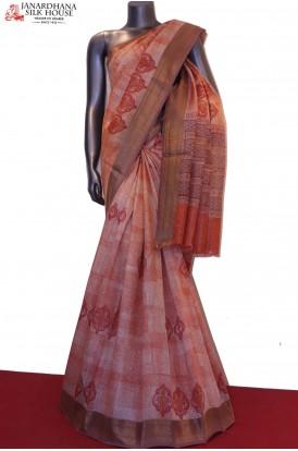Designer Printed Pure Tussar Silk Saree