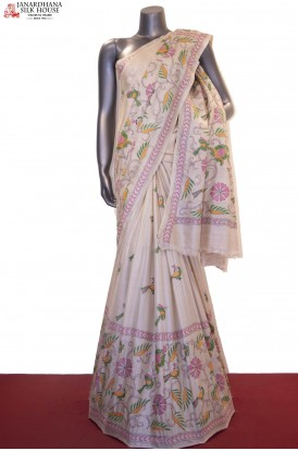 Designer & Exclusive Kantha Handloom Tussar Silk Saree