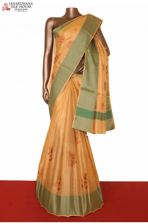 Embroidery Paper Tussar Silk S..