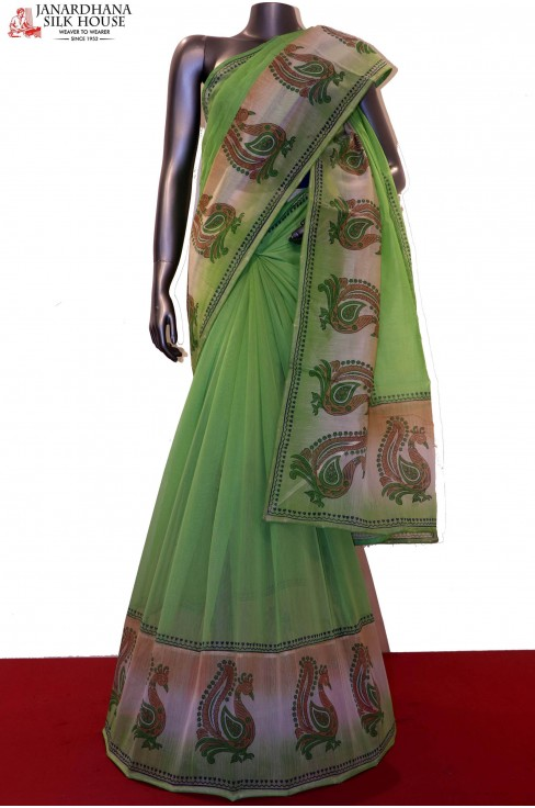 Special Embroidery Pure Cotton Saree