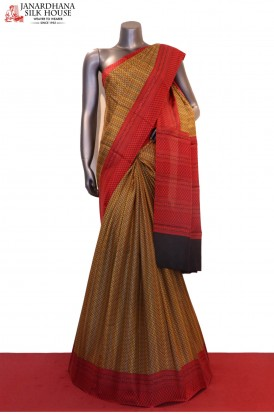 Traditional Prints Pure Printed Silk Saree