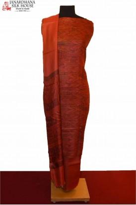 Exclusive Ikat Dupatta Printed Pure Tussar Silk Suit