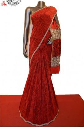 Exclusive Pure Printed Crepe Silk Saree