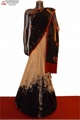 AE207508-Exclusive Abstract Pure Printed Crepe Silk Saree