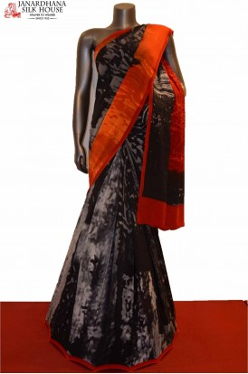 AE207525-Exclusive Abstract Pure Printed Crepe Silk Saree
