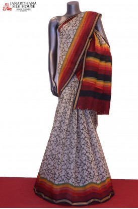 AE207557-Party Wear Pure Linen Saree