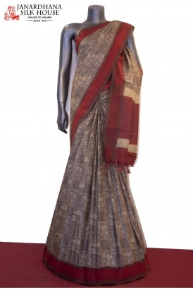 Exclusive Prints Pure Tussar Silk Saree