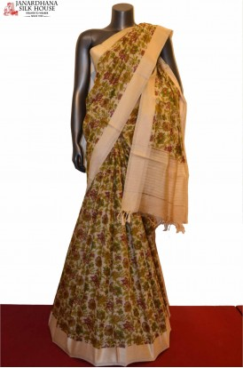 AE207580-Exclusive Party Wear Pure Tussar Silk Saree