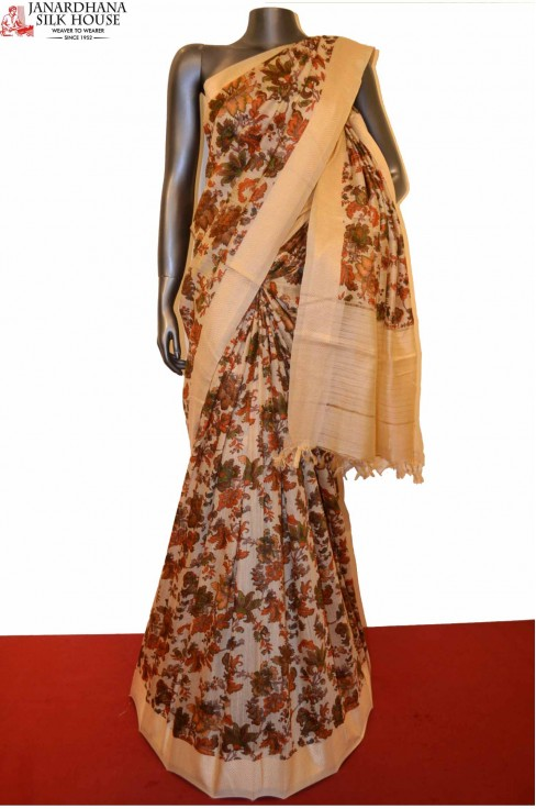 AE207584 -Exclusive Party Wear Pure Tussar Silk Saree