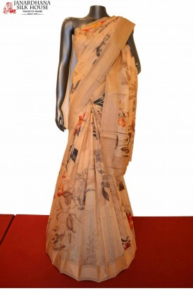 AE207598-Exclusive Party Wear  Tussar Pure Silk Saree