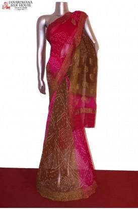 Exclusive Pure Bandhani Silk Saree