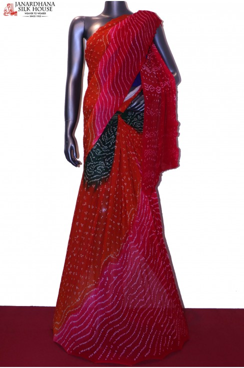 Exclusive Pure Bandhani Silk S..