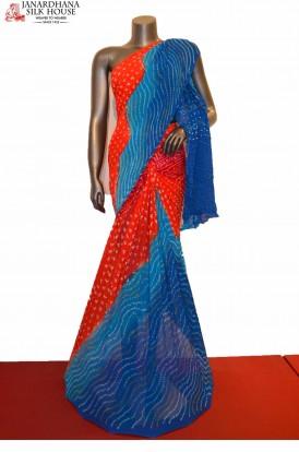 Special & Exclusive Pure Bandhani Silk Saree