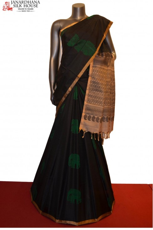 Exclusive Thread Weave Handloom Pure Soft Silk Saree