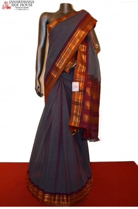 Traditional & Classic Handloom Pure Gadwal Silk Cotton