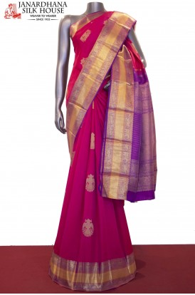 Grand Bridal Handloom Kanjeevaram Silk Saree