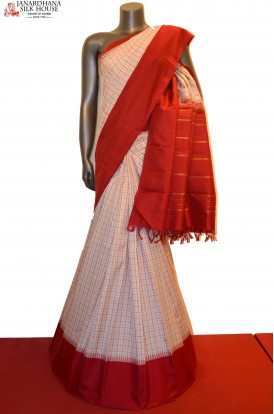 Temple & Checks Classic Kanjeevaram Silk Saree