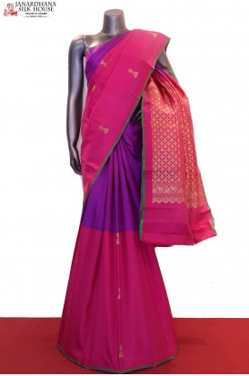 Half & Half Exclusive Wedding Kanjeevaram Silk Saree