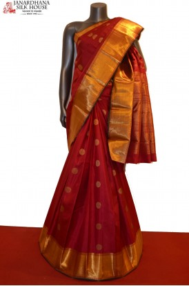 AE210786-Bridal Classic Grand Handloom Kanjeevaram Silk Saree