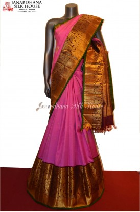 Bridal Pink Grand Wedding Exclusive Kanjeevaram Silk Saree