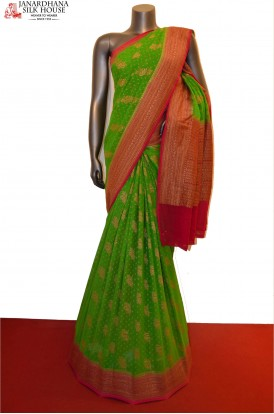Grand & Exclusive Banarasi Georgette Silk Saree