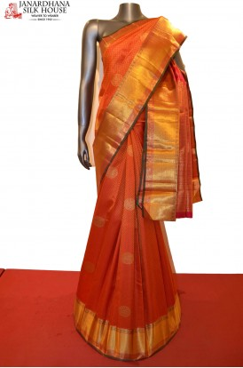 Bridal Red Grand Wedding Kanjeevaram Silk Saree