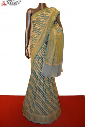 Designer & Grand Handloom Banarasi Georgette Silk Saree
