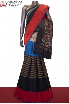 Exquisite & Designer Handloom Pure Ikat Patola Silk Saree