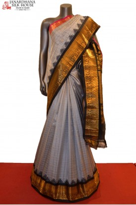AE212616-Grand & Ganga Jamuna Handloom Pure Gadwal Silk Saree