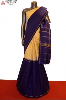 Traditional Temple Half & Half Classic Kanjeevaram Silk Saree