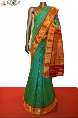 Traditional & Contrast Classic Pure South Silk Saree