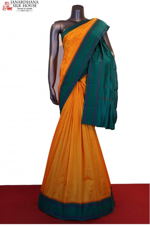 AE213156-Special Contrast Thread Weave Pure South Silk Saree