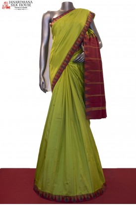 Thread Weave Temple Pure South Silk Saree