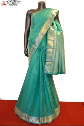 Exclusive Silver Zari Kanjeevaram Silk Saree