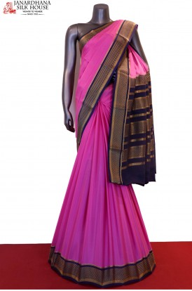 Traditional & Contrast Classic Pure Mysore Crepe Silk Saree