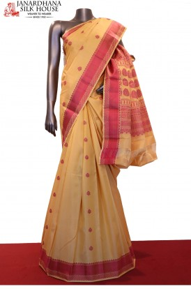 AF200083-Traditional Thread Weave Classic Pure South Silk Saree
