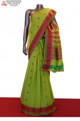 AF200087-Traditional Thread Weave Pure South Silk Saree