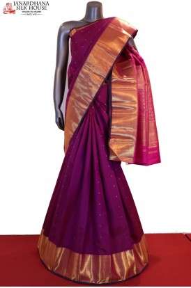 Wedding Traditional Contrast Kanjeevaram Silk Saree