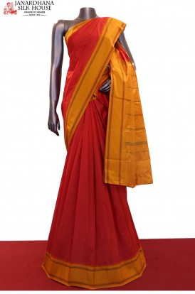 Thread Weave Traditional Pure South Silk Saree