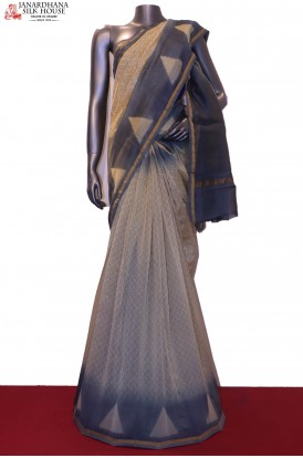 AF200230-Handloom Pure Chanderi Cotton Saree
