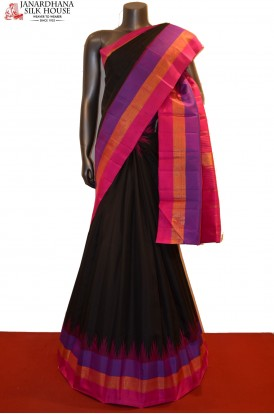 Temple & Handloom Kanjeevaram Silk Saree