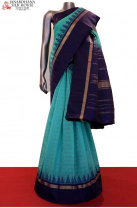Exclusive Linen Temple Kanjeevaram Silk Saree