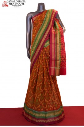 Exclusive & Classic Handloom Pochampally Pure Silk Cotton Saree
