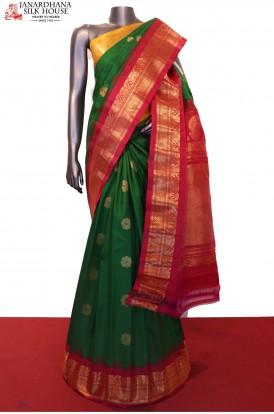 Ganga Jamuna Exclusive Handloom Pure Gadwal Silk Saree